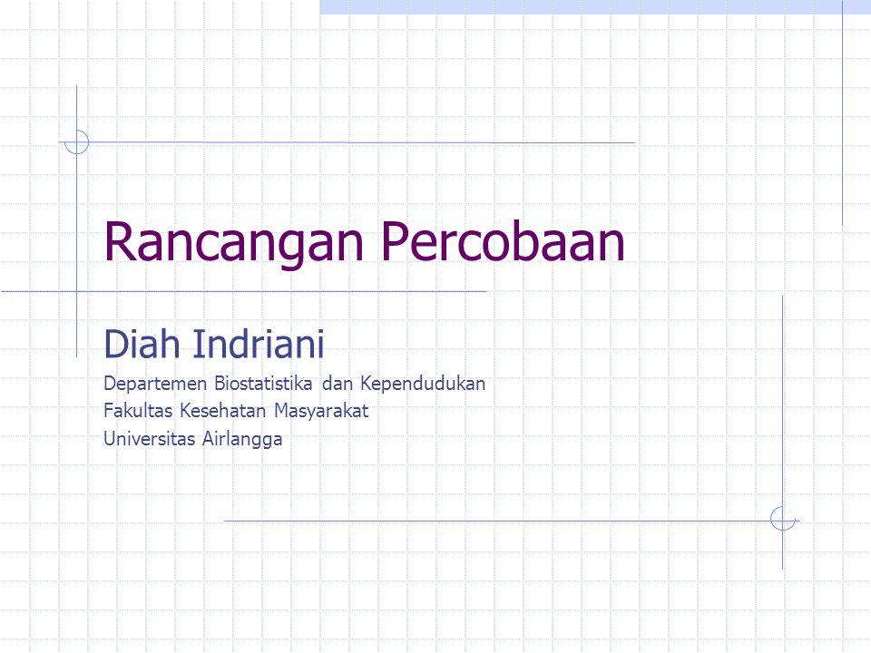 Rancangan Percobaan Diah Indriani