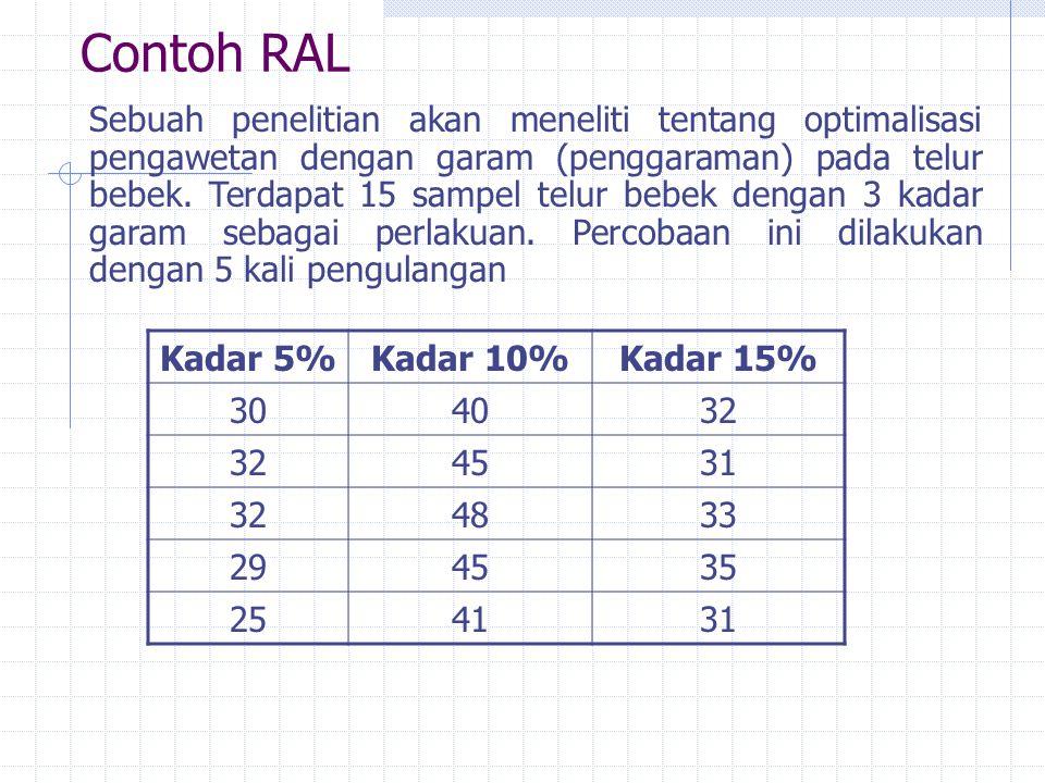 Contoh RAL