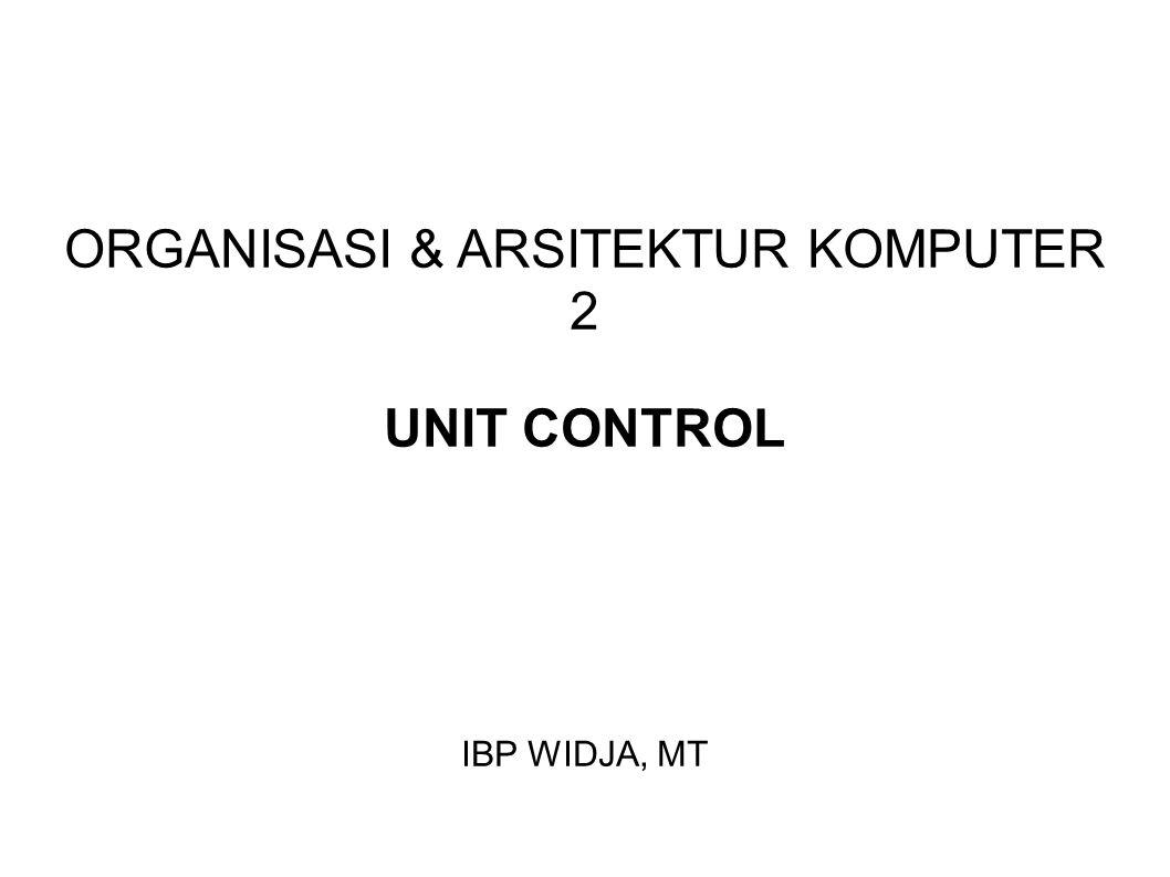 ORGANISASI & ARSITEKTUR KOMPUTER 2