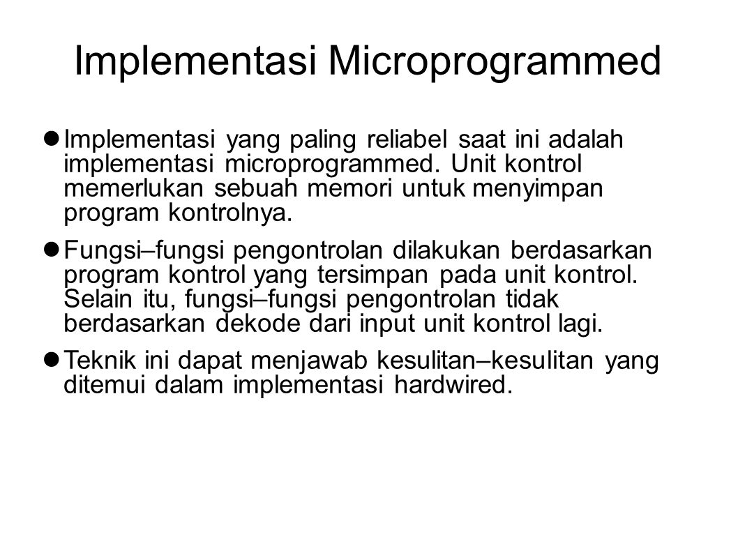 Implementasi Microprogrammed