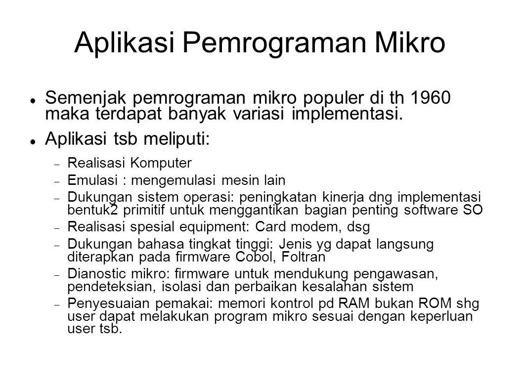 Aplikasi Pemrograman Mikro
