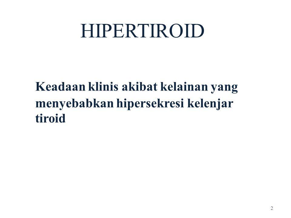 Keadaan klinis akibat kelainan yang menyebabkan hipersekresi kelenjar