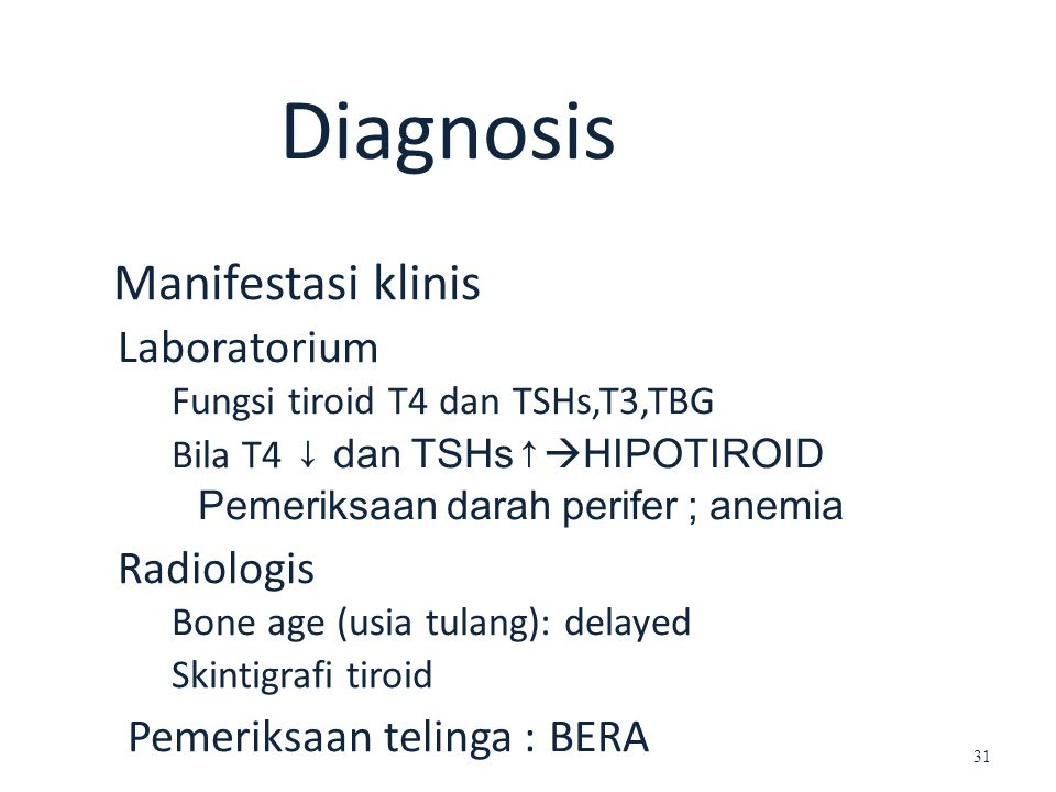 Manifestasi klinis Diagnosis Laboratorium