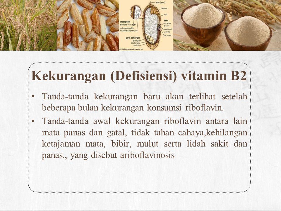 Kekurangan (Defisiensi) vitamin B2