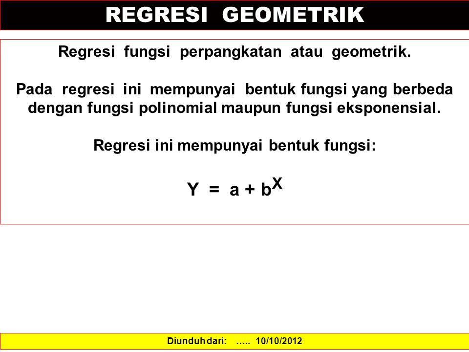 REGRESI GEOMETRIK Y = a + bX