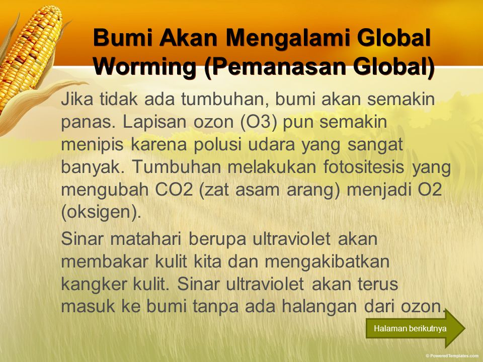 Bumi Akan Mengalami Global Worming (Pemanasan Global)