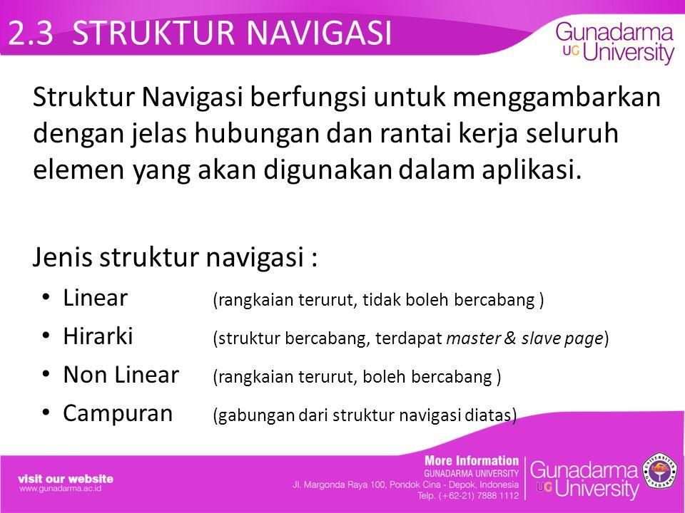 2.3 STRUKTUR NAVIGASI