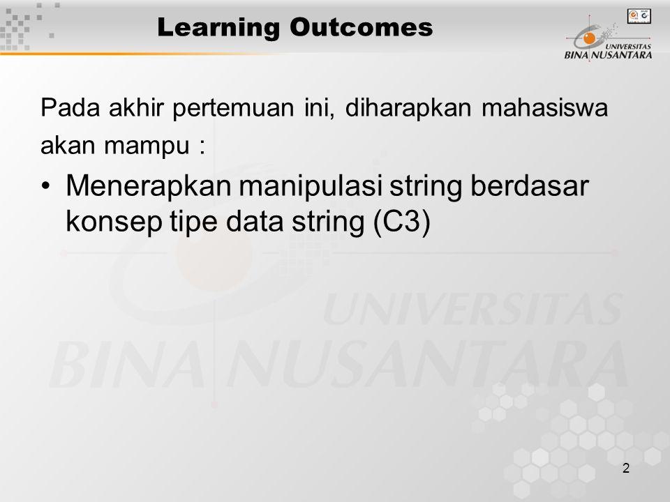 Menerapkan manipulasi string berdasar konsep tipe data string (C3)