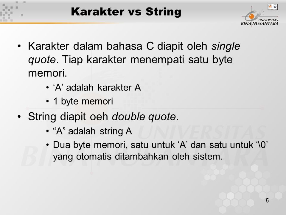 String diapit oeh double quote.