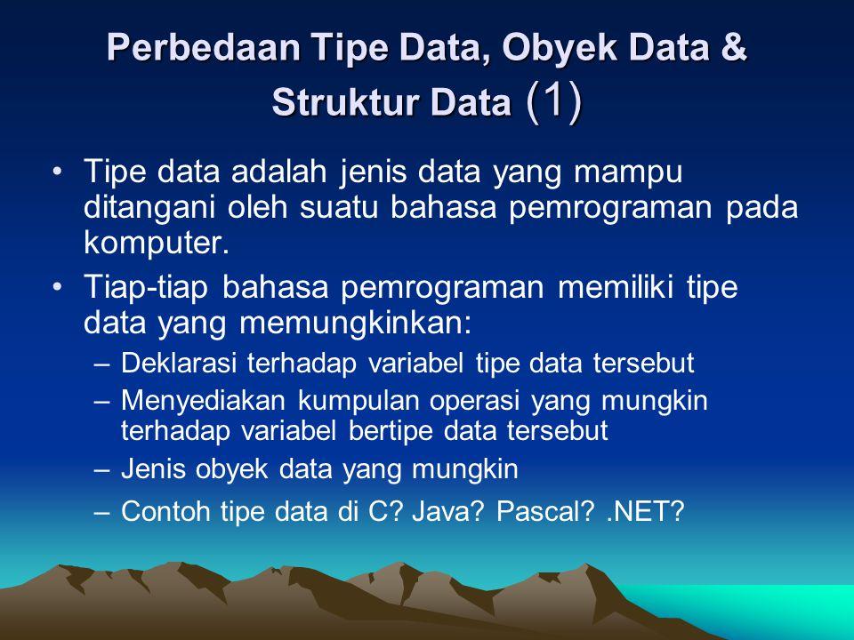 Perbedaan Tipe Data, Obyek Data & Struktur Data (1)