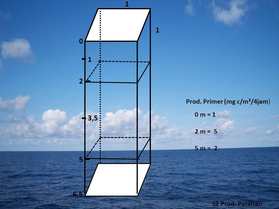 - - - - 1 1 1 2 3,5 5 6,5 Prod. Primer (mg c/m3/4jam) 0 m = 1 2 m = 5