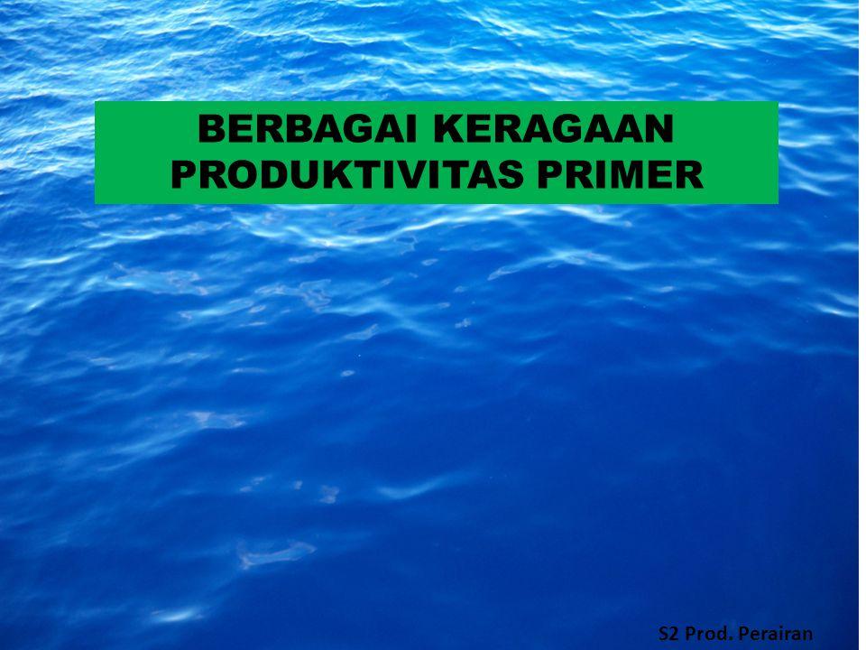 BERBAGAI KERAGAAN PRODUKTIVITAS PRIMER