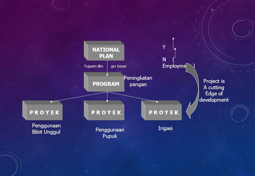 NATIONAL PLAN PROGRAM P R O Y E K