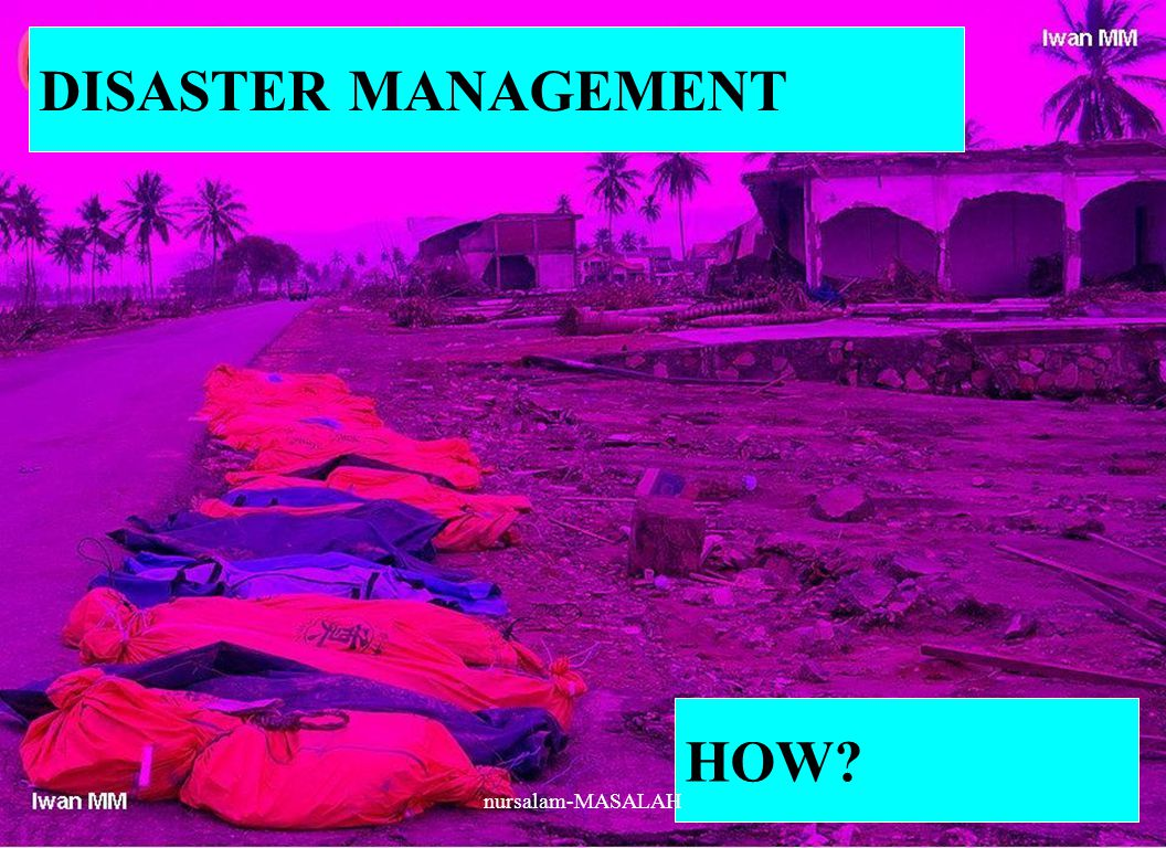 DISASTER MANAGEMENT HOW nursalam-MASALAH