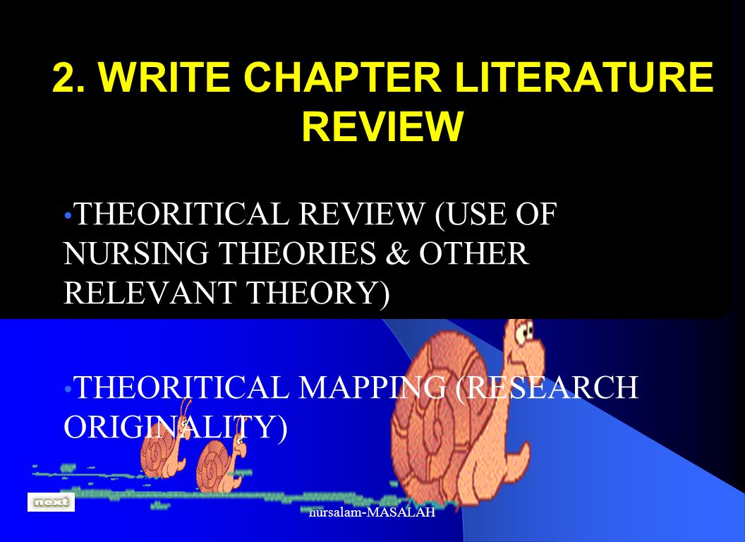2. WRITE CHAPTER LITERATURE REVIEW