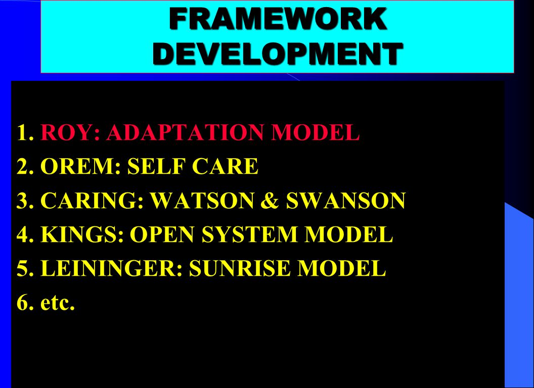 FRAMEWORK DEVELOPMENT