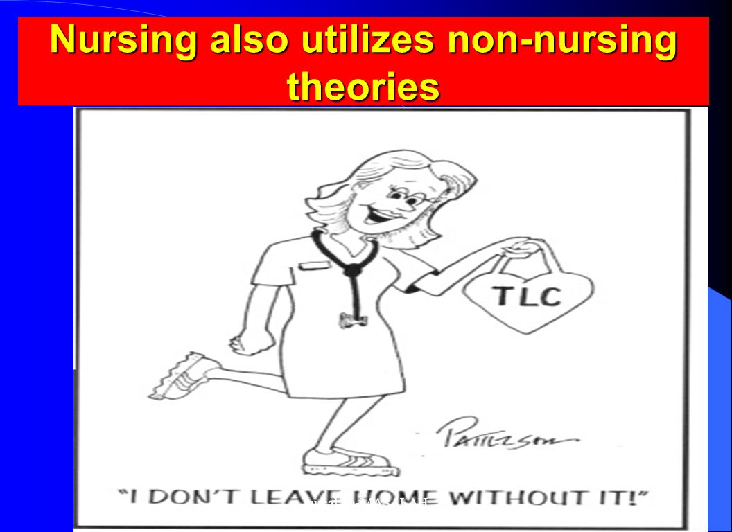 Nursing also utilizes non-nursing theories