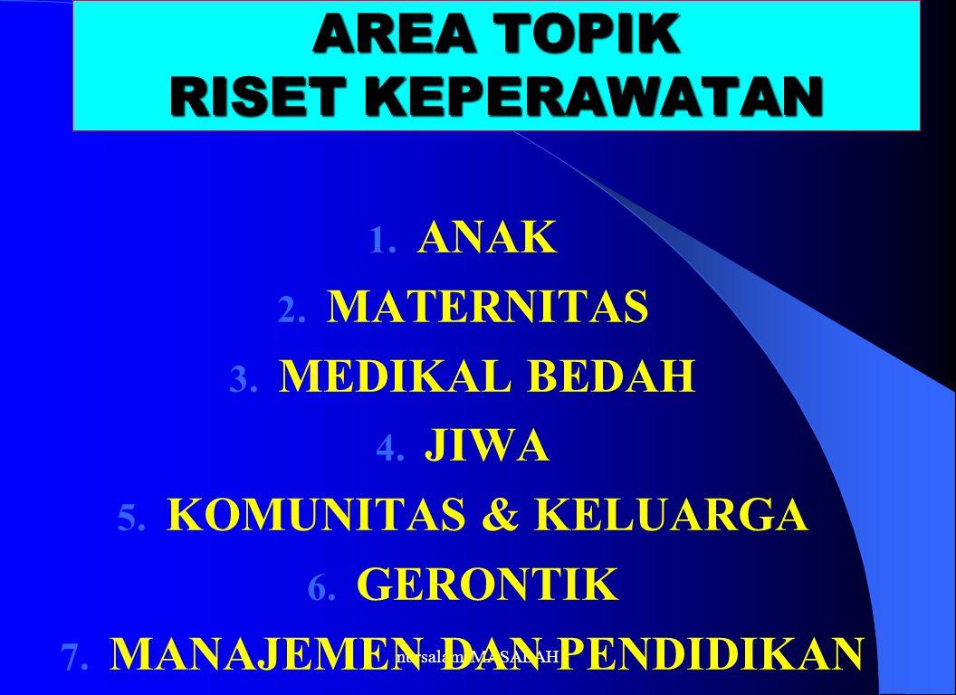 AREA TOPIK RISET KEPERAWATAN
