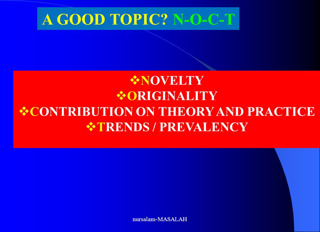 CONTRIBUTION ON THEORY AND PRACTICE