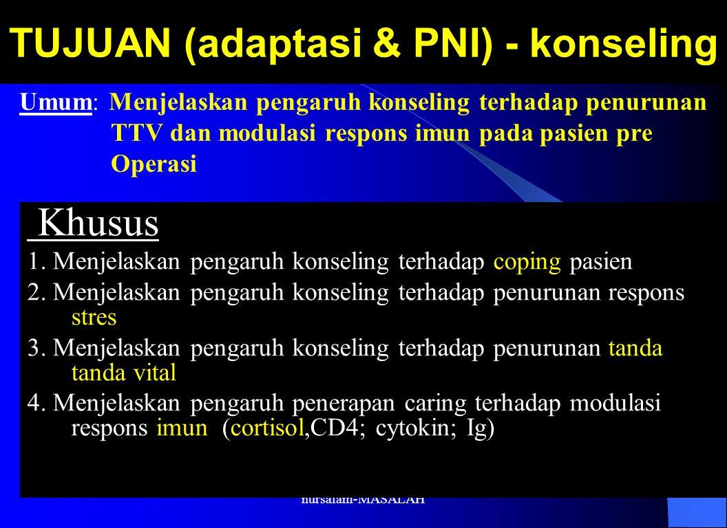 TUJUAN (adaptasi & PNI) - konseling