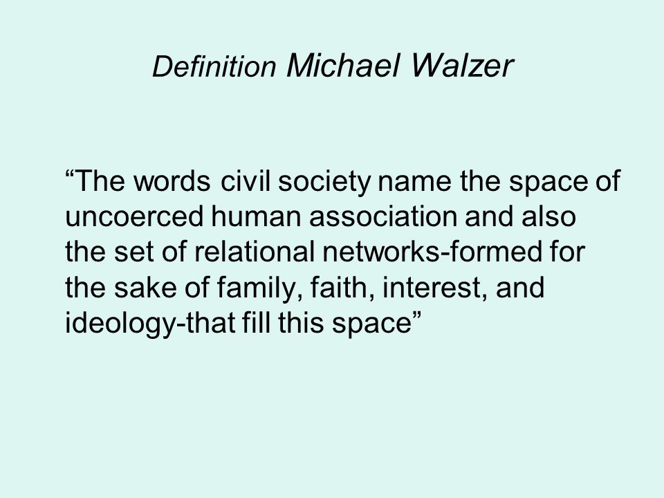 Definition Michael Walzer