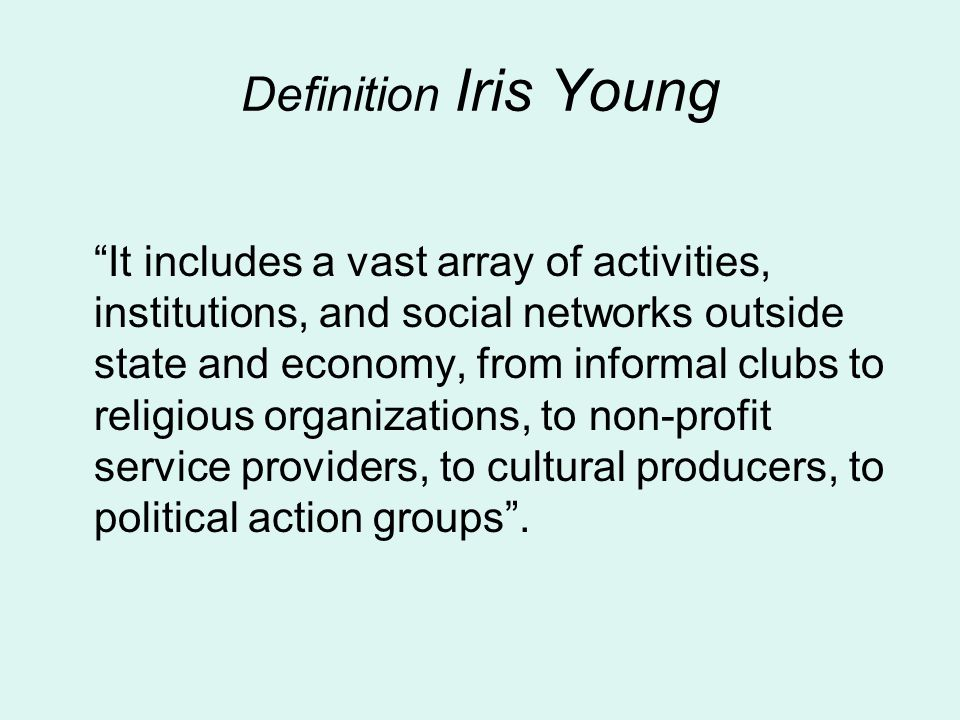 Definition Iris Young
