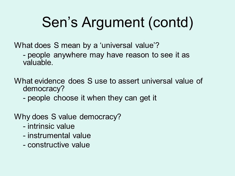 Sen's Argument (contd)