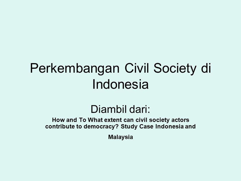 Perkembangan Civil Society di Indonesia