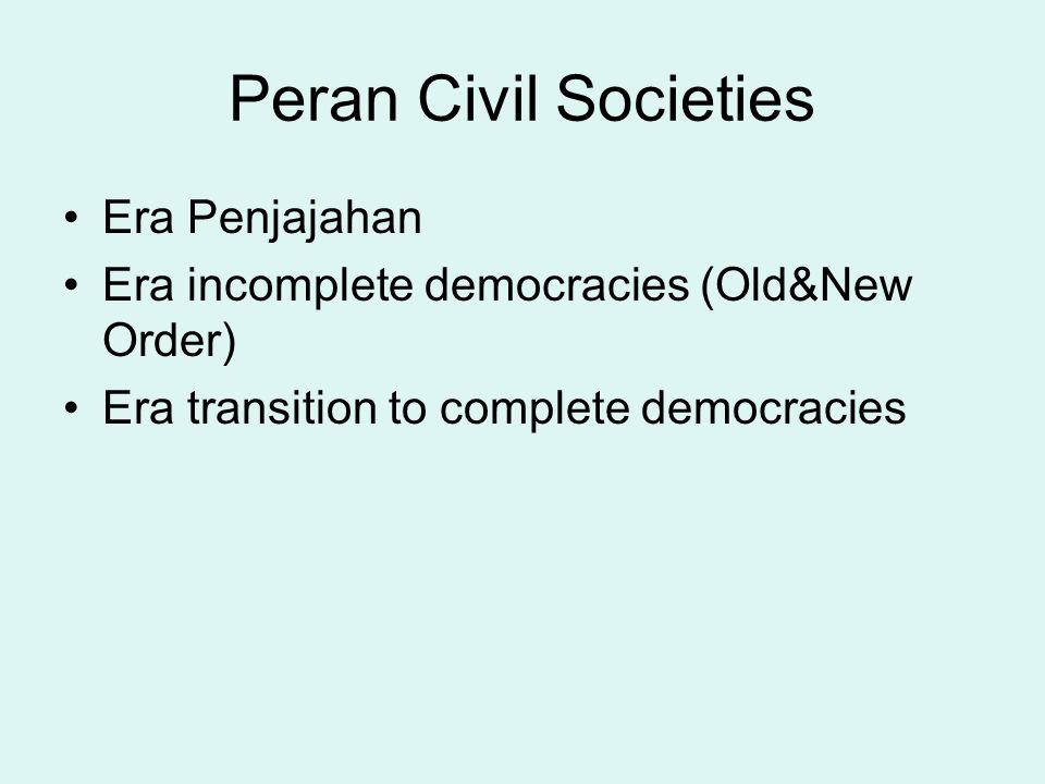 Peran Civil Societies Era Penjajahan