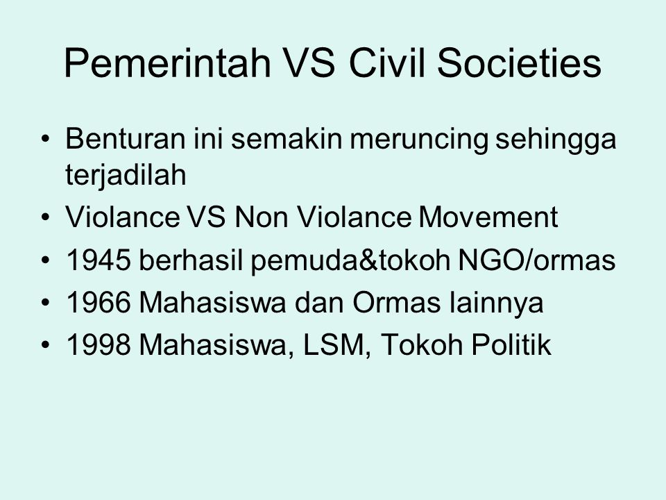 Pemerintah VS Civil Societies