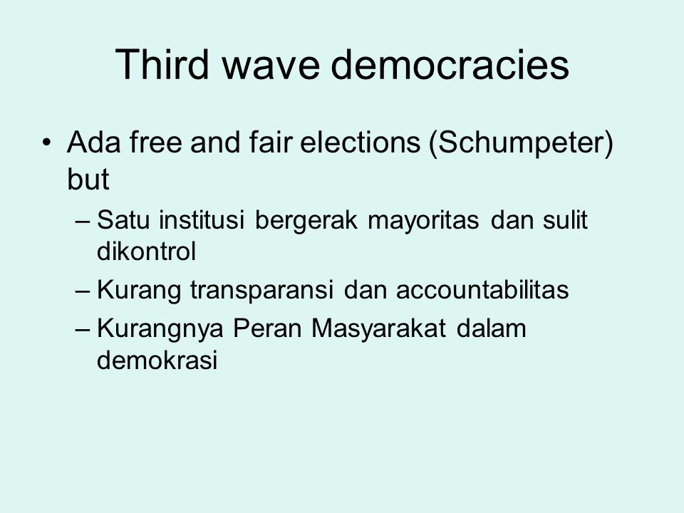Third wave democracies