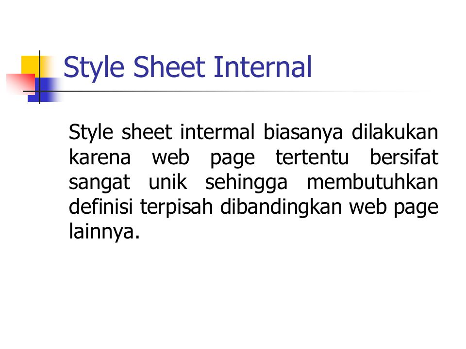 Style Sheet Internal