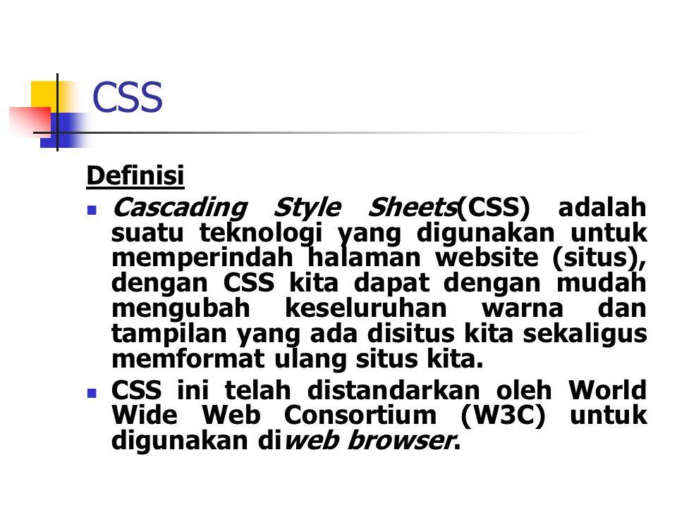 CSS Definisi.