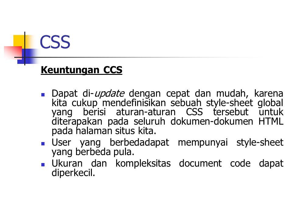 CSS Keuntungan CCS.