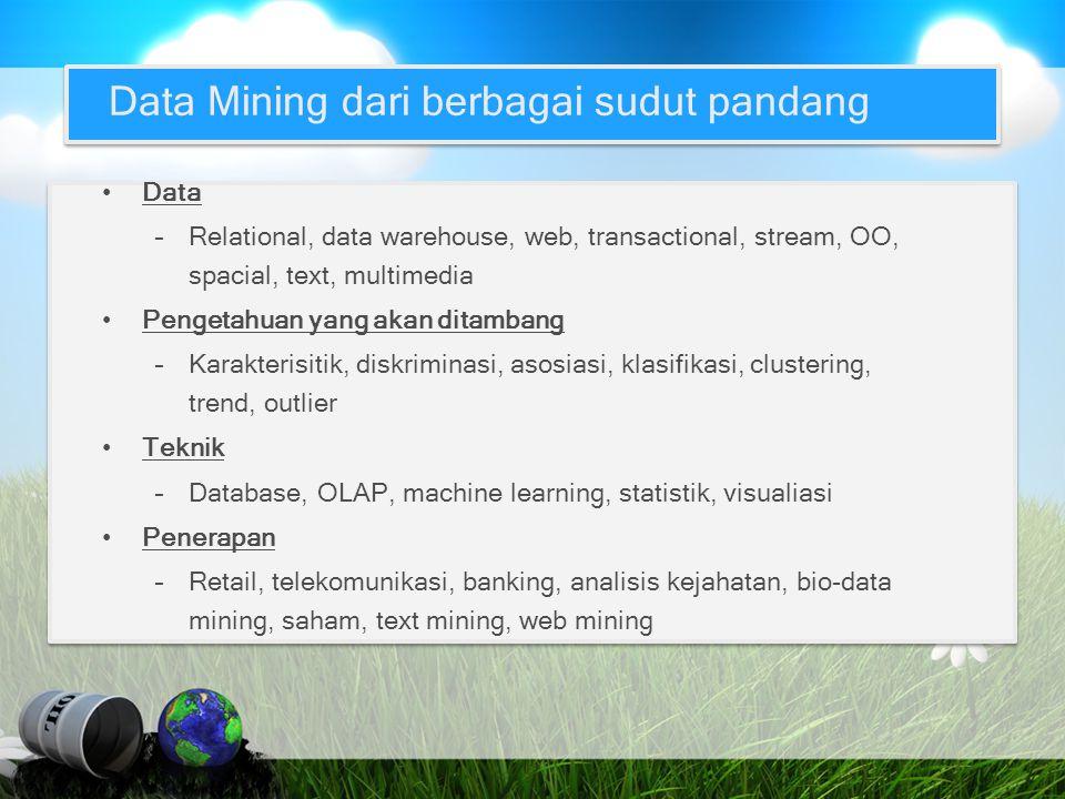 Data Mining dari berbagai sudut pandang