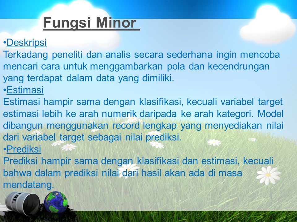 Fungsi Minor Deskripsi