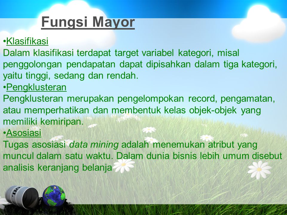 Fungsi Mayor Klasifikasi