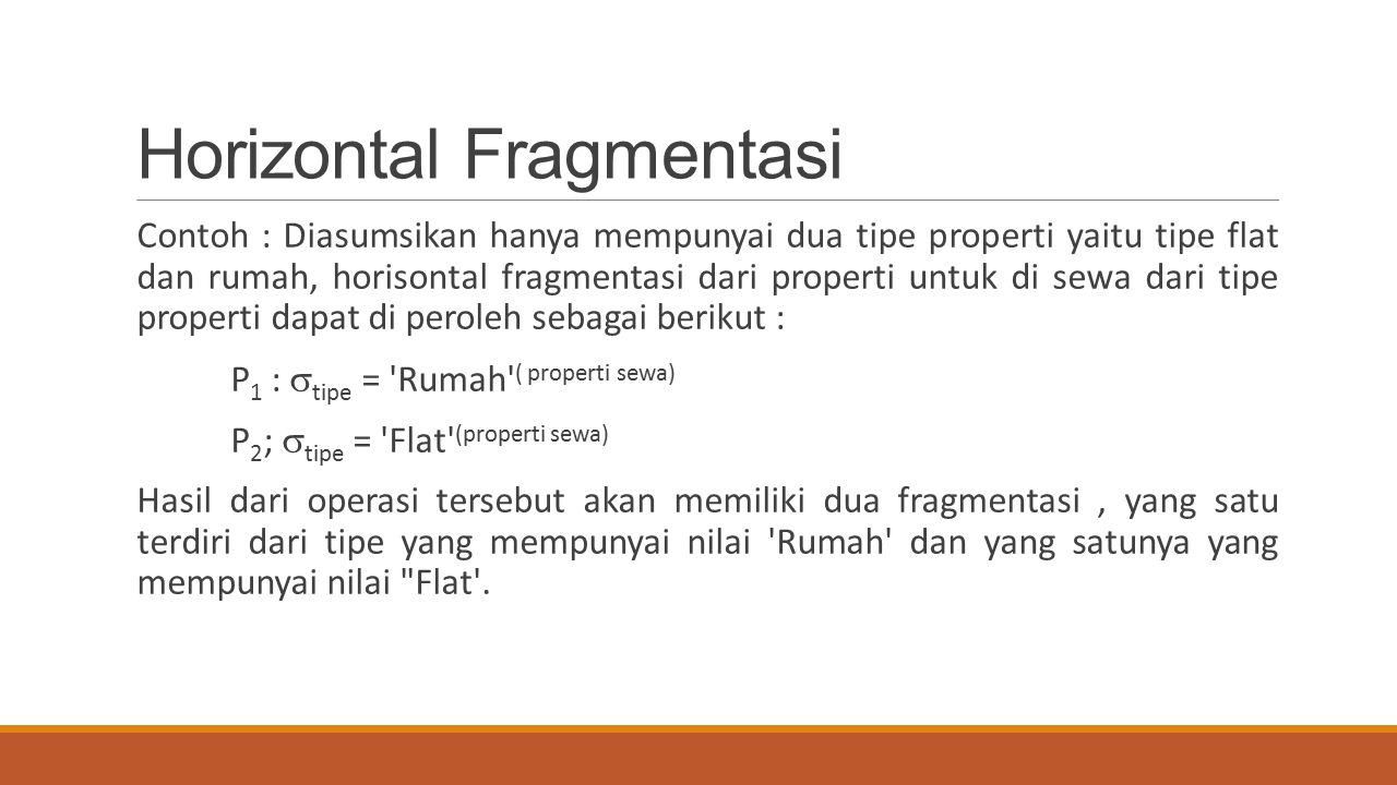 Horizontal Fragmentasi