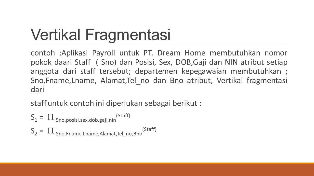 Vertikal Fragmentasi