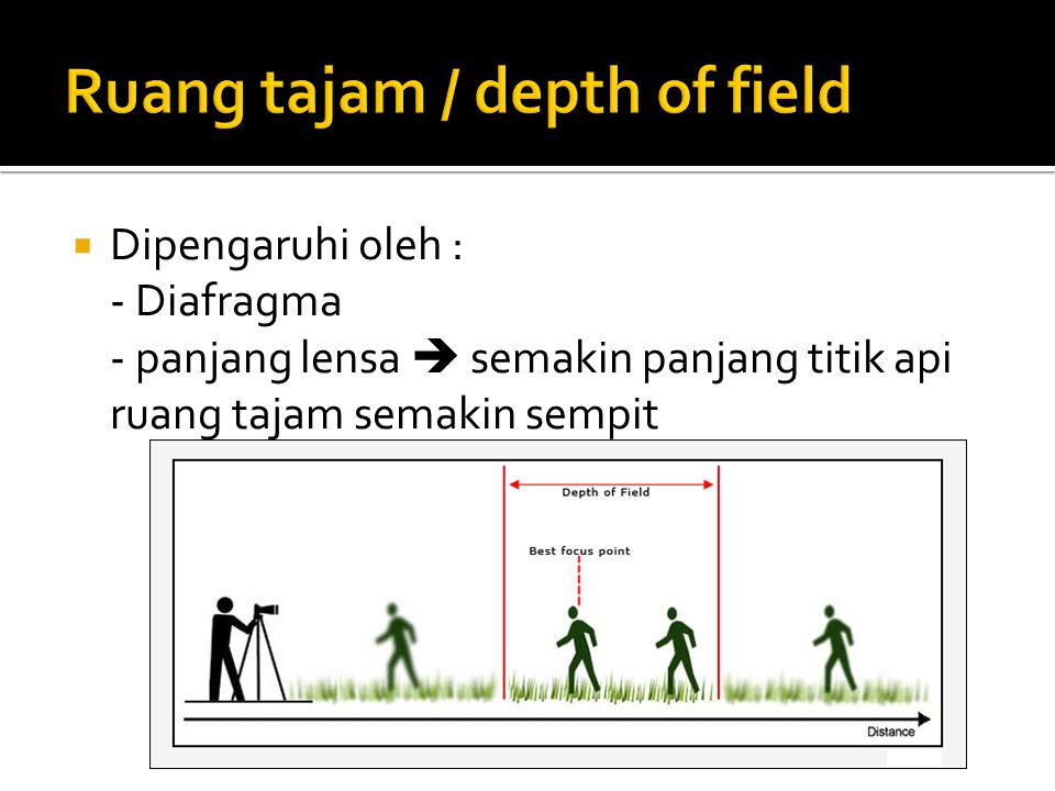 Ruang tajam / depth of field