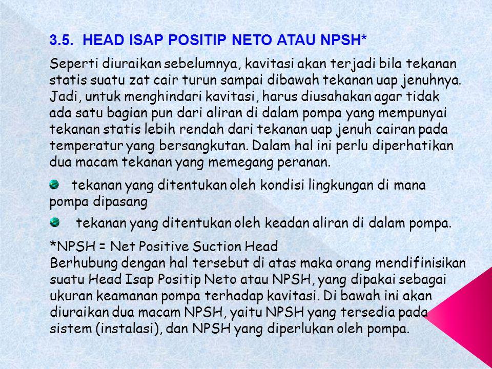 3.5. HEAD ISAP POSITIP NETO ATAU NPSH*
