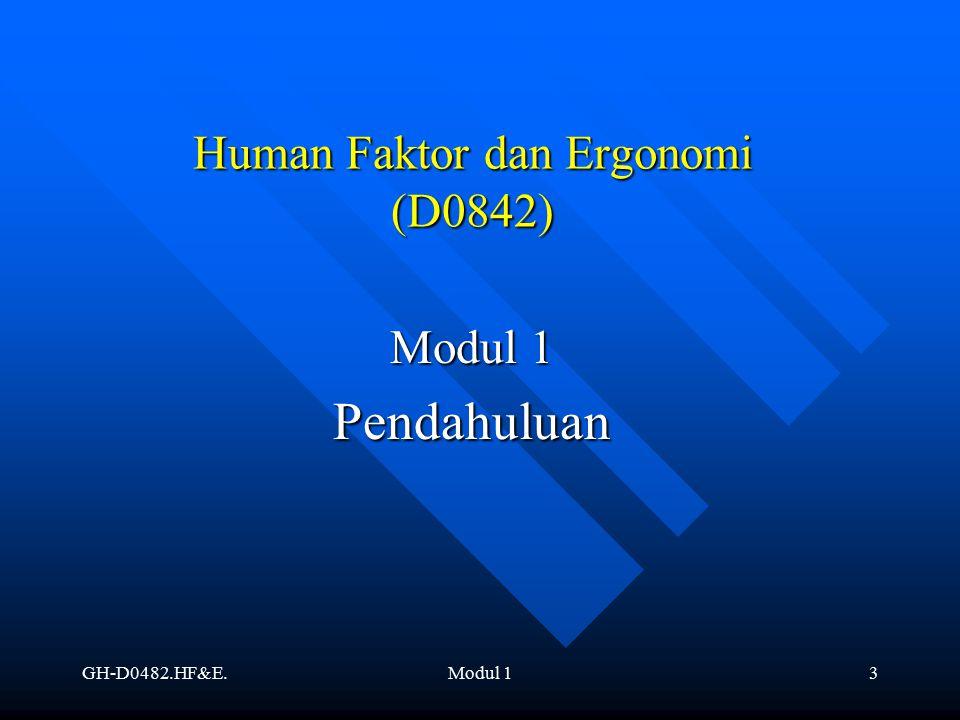 Human Faktor dan Ergonomi (D0842)