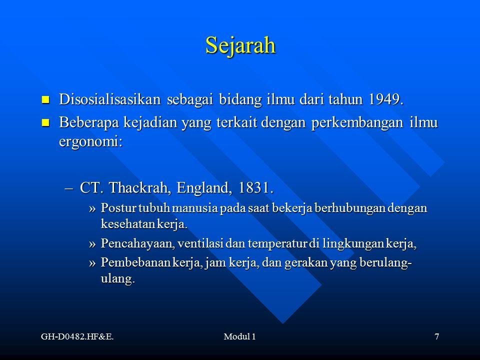 Sejarah Disosialisasikan sebagai bidang ilmu dari tahun 1949.