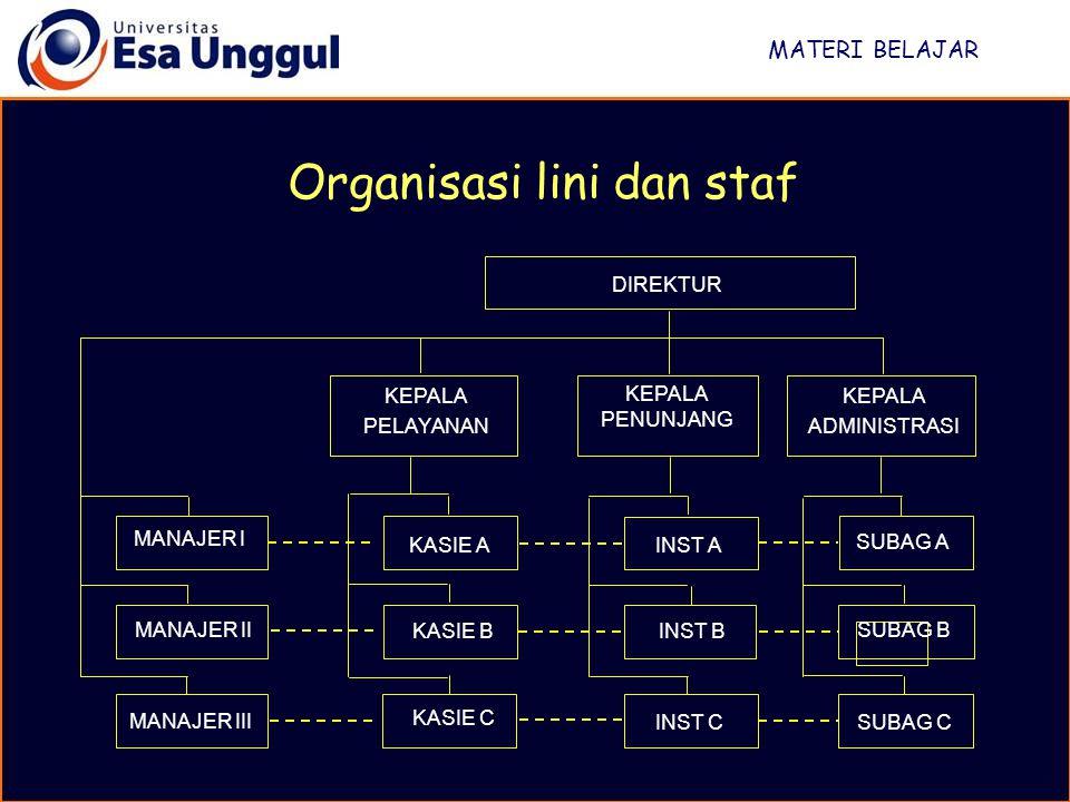 Organisasi lini dan staf