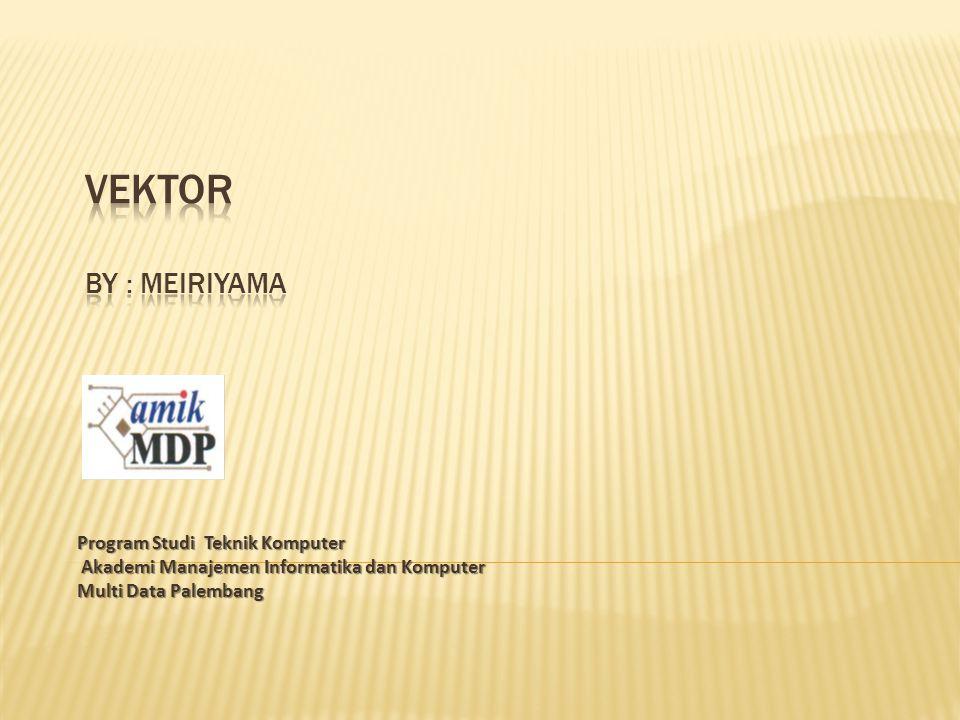 Vektor By : Meiriyama Program Studi Teknik Komputer