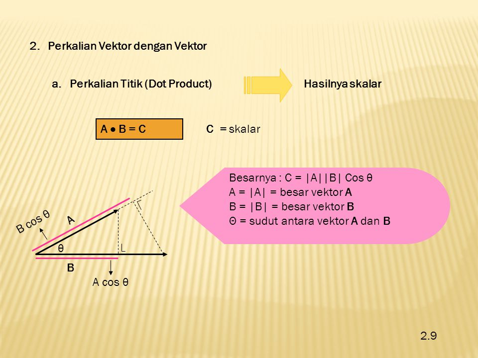 2. Perkalian Vektor dengan Vektor