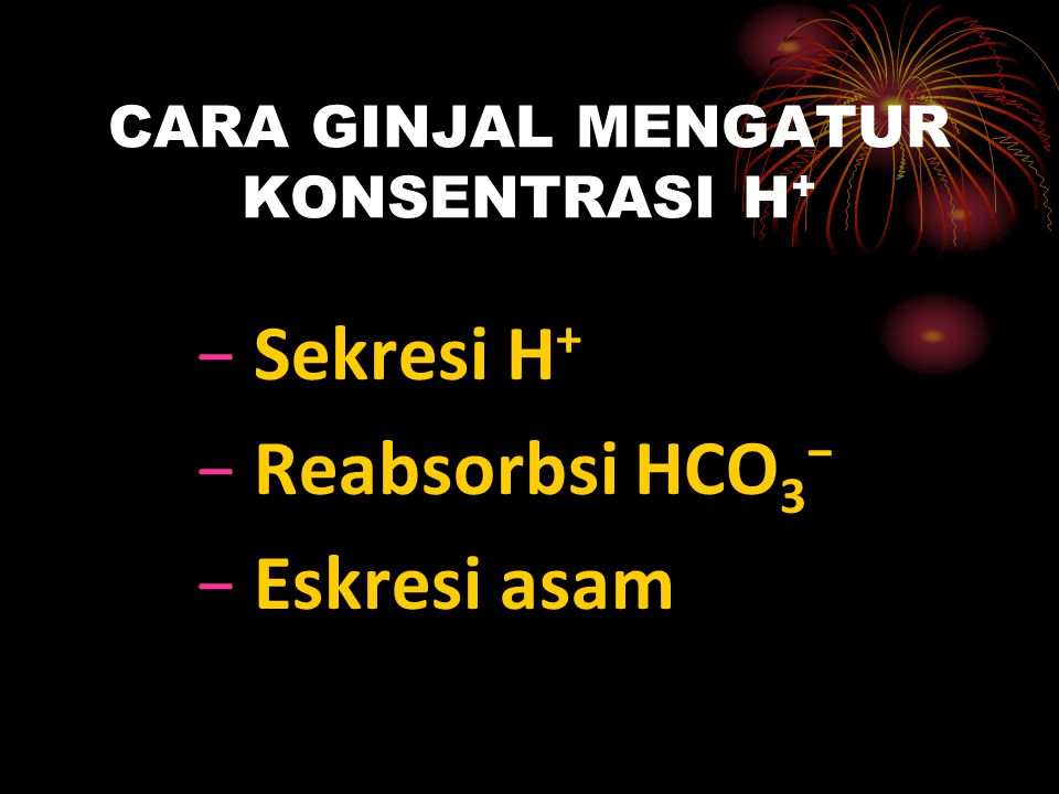 CARA GINJAL MENGATUR KONSENTRASI H+