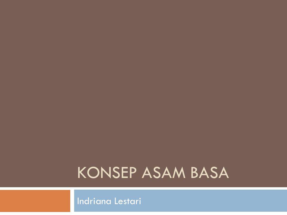 Konsep asam basa Indriana Lestari
