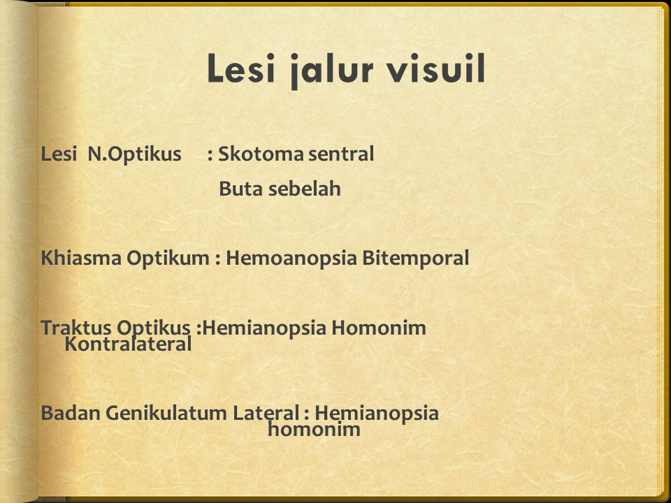Lesi jalur visuil