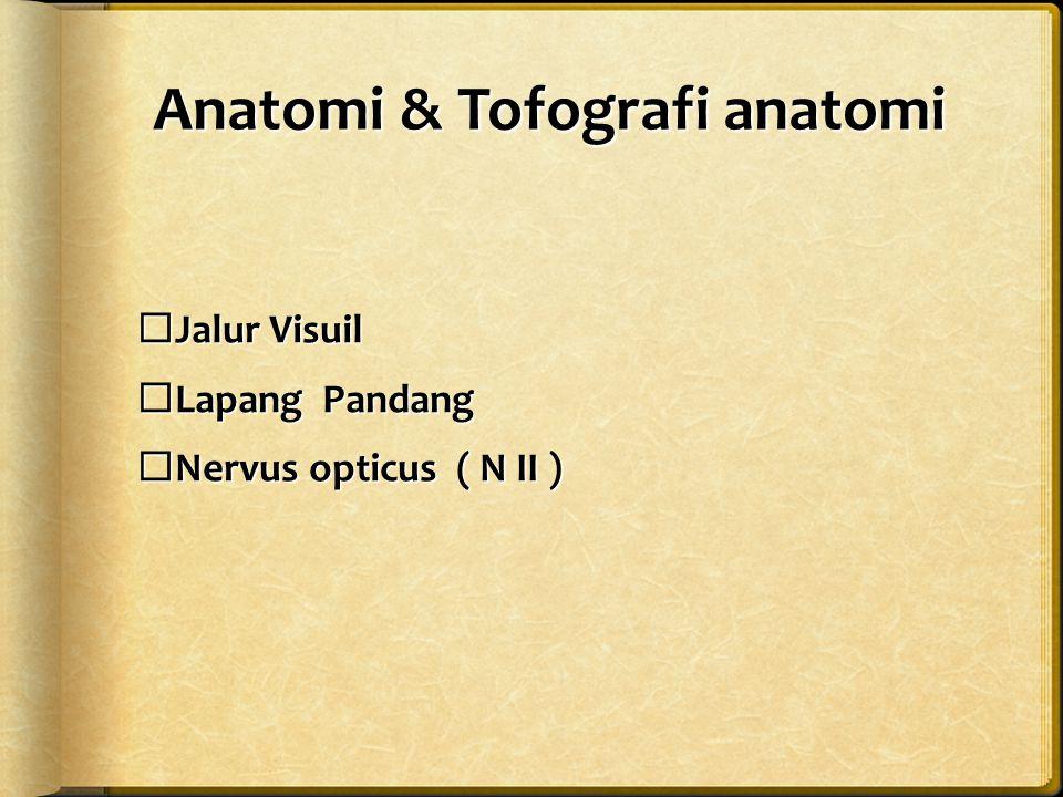 Anatomi & Tofografi anatomi